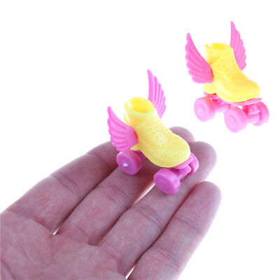 1pair 3cm Roller Skate Fancy Doll Shoes Toys for Girls Christmas DecorativeWK
