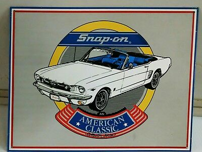 Snap-on Tools Collector Series '65 Mustang Vintage Metal Sign ONLY ONE!
