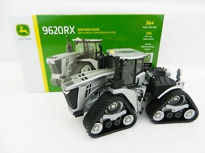 2018 ERTL 1:64 *FARM SHOW EDITION* John Deere 9620RX *SILVER 100 YEARS* Tractor