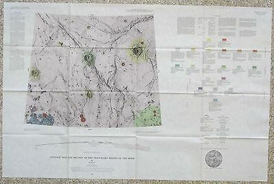 USGS APOLLO TIMOCHARIS REGION LUNAR GEOLOGIC MAP, Vintage 1965, I-462 Scarce