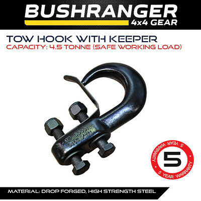 Tow Hook With Keeper Towing Recovery 4X4 4WD Offroad Touring