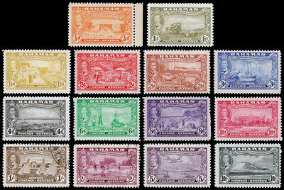 Bahamas Scott 132-143, 145-146 (1948) Mint/Used H VF, CV $58.55 M