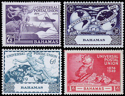 Bahamas Scott 150-153 (1949) Mint LH VF, CV $5.60 M