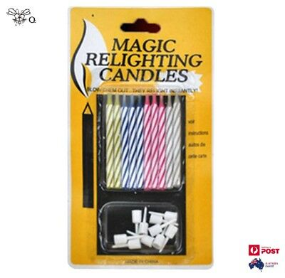 Magic Relighting Candles Birthday Party Funny Trick 10 Pcs