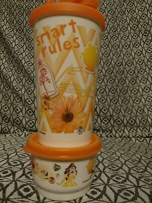 Tupperware Disney's Belle 11 oz. Flip-Top with Matching Snack Cup