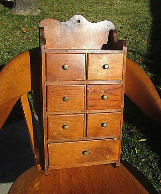Antique Vintage Wall Spice Box Cabinet Original Finish Kitchen Table Storage