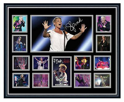 Pink Beautiful Trauma 2018 World Tour Signed Framed Limited Edition Memorabilia