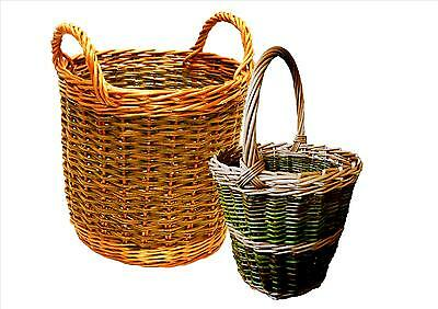 Make these willow Apple & Berry Baskets: 2 weaving kits for complete beginners.