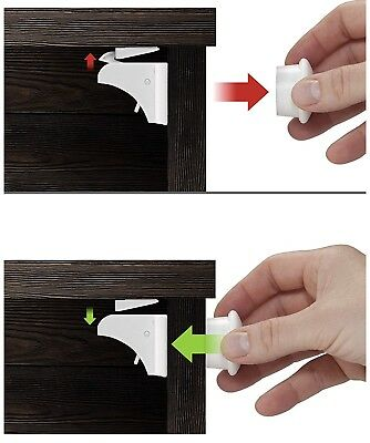 Childproof Babyproof  Magnetic Cabinet Locks - 4 Locks - NEW Ships Fast!!