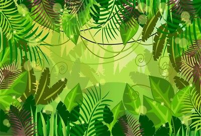 Tropical Jungle Backdrop Baby Act Show Party Banner Photo Background 10x6.5ft