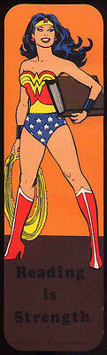 Wonder Woman Repro 1982 Promo Bookmark - Reading Is Strength . Dc Comics