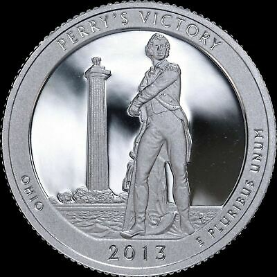 2013-S Perry's Victory ATB Ohio Quarter Gem PROOF Deep Cameo US Mint Coin