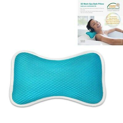 Breathable Pillow 3D Home Spa Bath Pillow with Suction Cups for Supports Neck