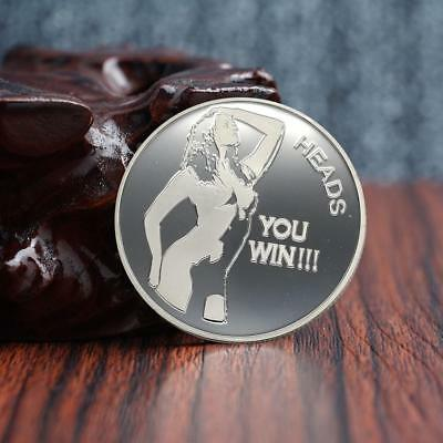 Sexy Beauty You win TAILS, You win HEADS Collection Souvenir Coins Man gift
