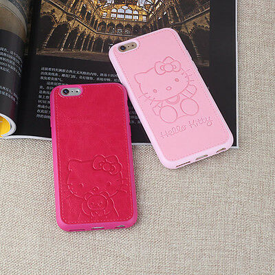PU Leather Cute Hello Kitty Case For iPhone 6 6s 6Plus 6s Plus 7 7Plus Silicone