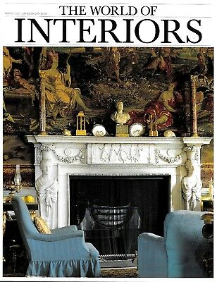 The World of Interiors Magazine March 2001 Design Decorating Art Antiques Modern