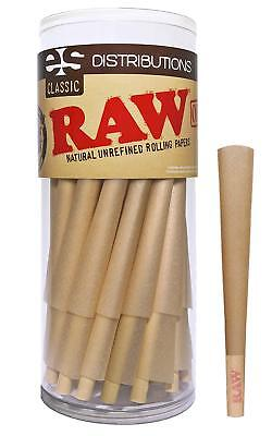 RAW Classic King Size Pure Hemp Pre-Rolled Cones With Filter 50 Pack