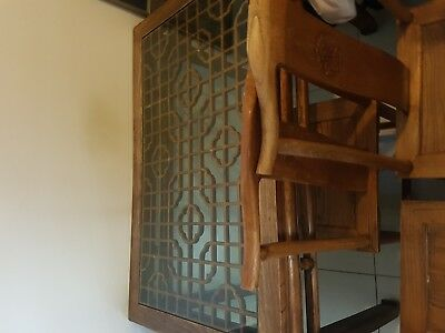 antique chinese furniture table and chairs
