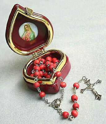 Madonna Rose Scented Rosary with Case Included