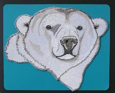 """Polar Bear Embroidered Patch 7.9""""x 7.2"""""""