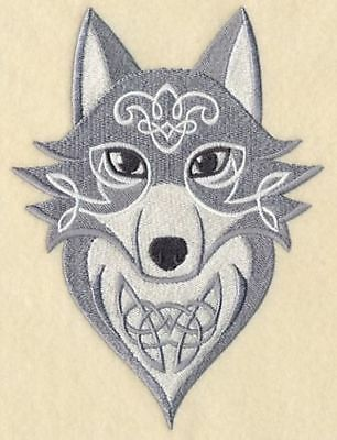 """Celtic Wolf, Wolves Embroidered Patch 4.8""""x6.4"""""""