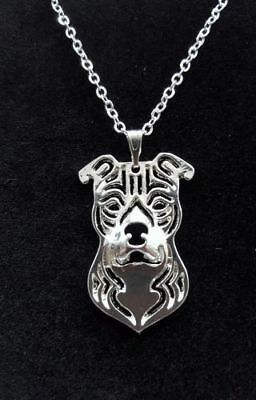 """Staffordshire Bull Terrier Dog Cute necklace 18"""""""