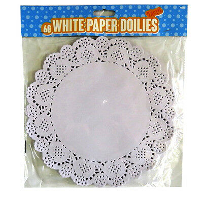Large White Paper Lace Doilies - Pack of 60 - 240mm Round