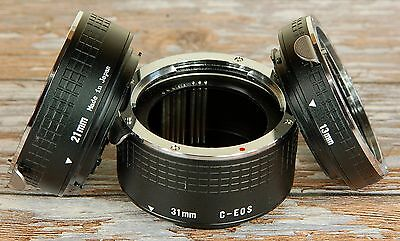 Jessop Digital Canon EOS EFS AF fit Extension Tube set MACRO 13mm 21mm 31mm