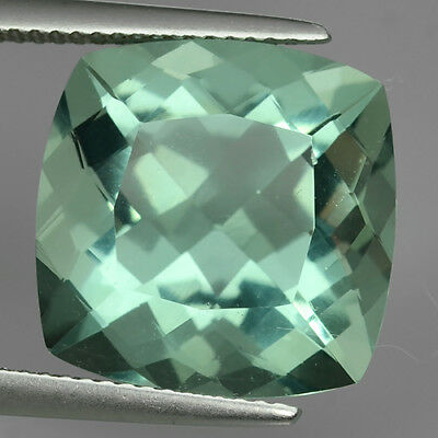 16.10 Ct Amazing Luster Fine Green Natural Flourite Cushon Cut Loose Gemstone