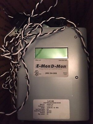 E-Mon D-Mon 120/208v 4w 200 amp Class 3000 meter with CT's