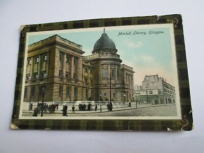 Postcard of Mitchell Library, Glasgow (Posted 1917 Philco)