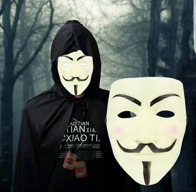 V for Vendetta Mask Anonymous Guy Fawkes Fancy Dress Fancy Costume cosplay(y)