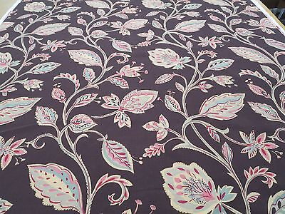 Collier Campbell Fabrics Moresco Cotton Linen 5.5 Yd x 55 In Stylized Floral