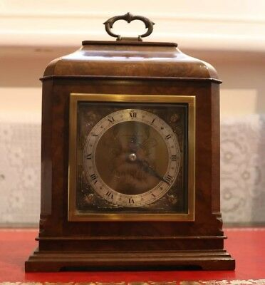 Elliott Burr Walnut mantle clock, 8 day, walnut case