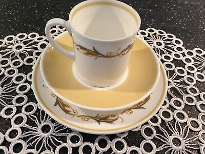 Susie Cooper 'Classic' Trio,  1 Cup 1 Saucer 1 Plate.
