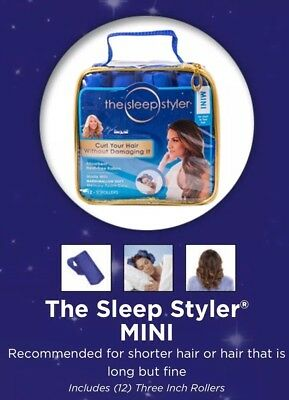 "NEW IN PACKAGE The Sleep Styler Set of 12 Mini 3"" Foam Curlers Soft Memory Foam"