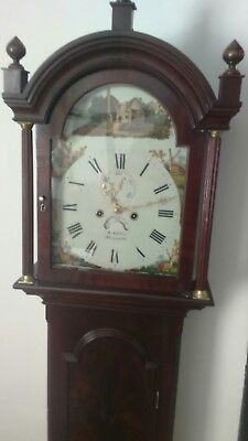 Antique grandfather longcase c1830 s lelli Newport isle of Wight