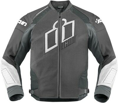 New Icon Hypersport Prime Leather Jacket Grey