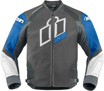 New Icon Hypersport Prime Leather Jacket Blue