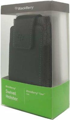 Blackberry Leather Holster Pouch Case w/ Swivel Belt for Curve 3G 9300
