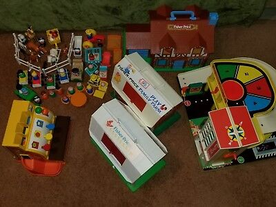 Vintage Fisher Price Little People - Mixed Lot - Big Set
