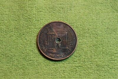 1842-Token-Coin-Medal-Province Of Canada-Bank Of Montreal-One Penny