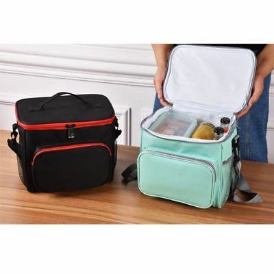 Thermal Insulated Lunch Box Shoulder Bag Picnic School Cooler Storage Box USA