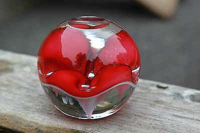 Rare documented Dorflinger paperweight, Von Dohlin or Hagberg, early 1900s