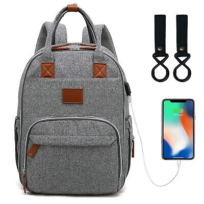 LEQUEEN Mummy Baby Diaper Nappy Bag Backpack Multifunctional  Large Changing Bag
