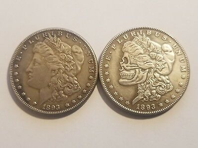 1893 Morgan Dollar Zombie Skull - Novelty Coin ** $5.00 SALE ** While They Last