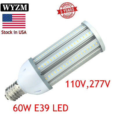60 Watt Super Bright COB Corn LED Light Bulbs (400W Equivalent) E39 Mogul Base