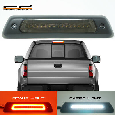 For 2009-2014 Ford F150 Optic Style LED 3rd Third Brake Light Cargo Lamp SMOKED