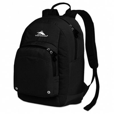 NEW High Sierra  Impact Backpack - in Black - 23L - Travel Laptop Backpacks -