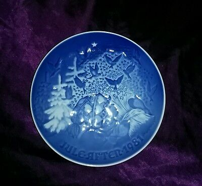Vintage B&G Danish Blue Collectible Christmas Peace Plate 1981'